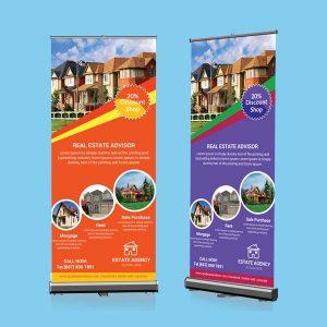roll banner, cetak roll banner, print roll banner, ukuran roll banner, roll banner png,